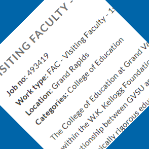 Hiring Visiting Faculty Position